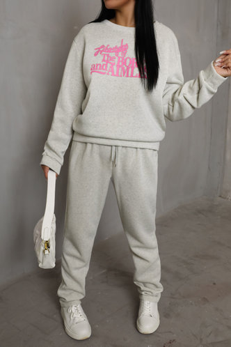 back_Pullover and   Light Grey Sweatshirt Sets
