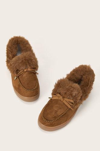 back_Plain Flat Round Toe Camel Boots
