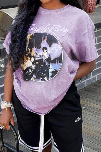 front_Bonnie Evangeline Purple Tee