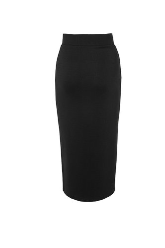 back_Boardroom Boss Black Pencil Skirt