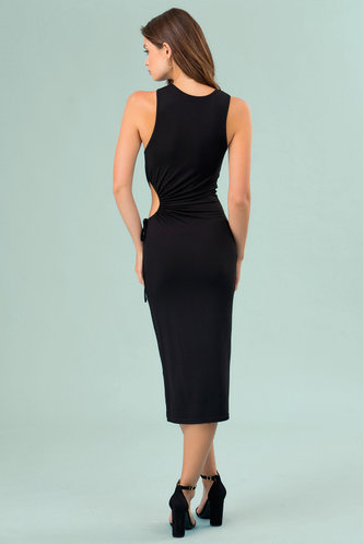 back_Rockstar Black Midi Dress