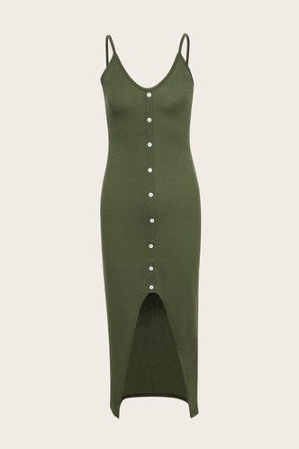 back_Elfreda Eartha Dusty Green Split Hem Dress