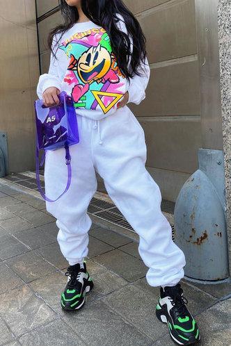 back_Cora Fesanan White Sweatshirt Set