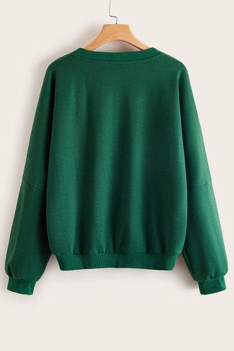 back_Rose Dark Green Pullover