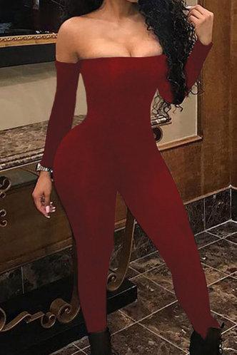 front_Gustave Elizabeth Red Jumpsuit