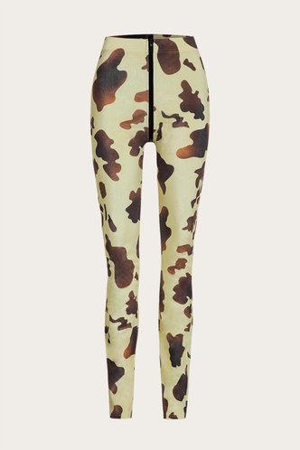 back_Gayle Elsie Brown Cow Print Pants