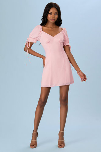 back_Romance Language Pink Mini Dress