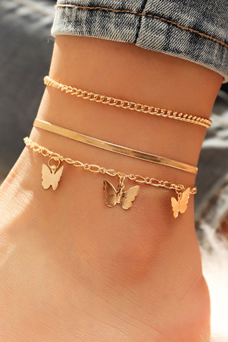 front_Casual Butterfly Gold Body Jewelry