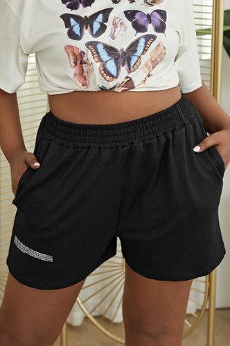 back_Fernanda Eunice Black Plus Size Short