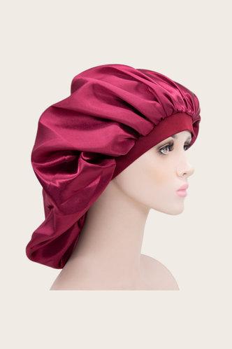 back_Bella Emily Red Wine Hair Bonnet