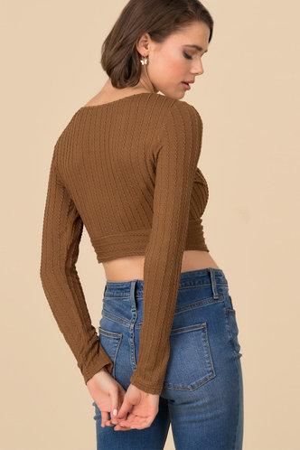 back_Just Friends {color} Knit Crop Top