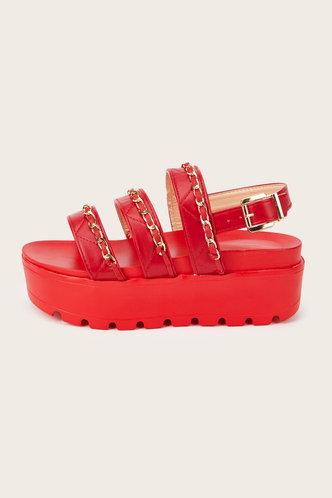 back_Laverne Emma Red Wedge Sandals
