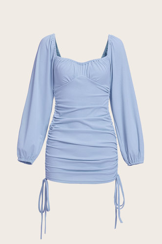 back_Dana Edith Baby Blue Knot Side Dress