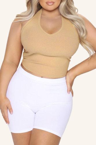 back_Torrie Eleanore Khaki Plus Halter Top