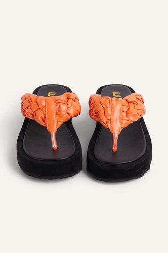 back_Georgia Interes Orange Thong Sandals