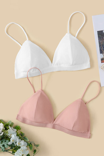 front_Carla Eartha White And Pink Triangle Bra Set 2pack