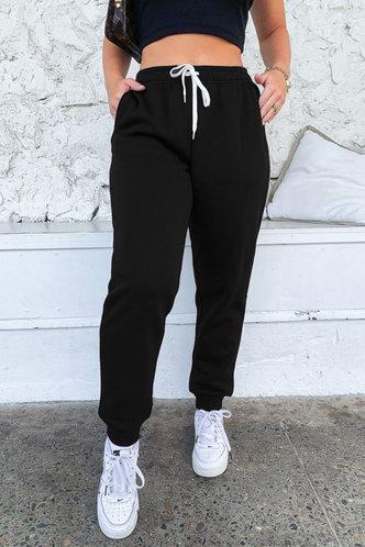 front_Dana Lumstel Black Sweatpants