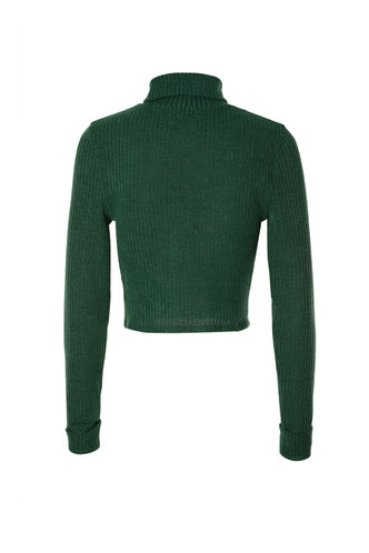 back_Miranda Dark Green Long Sleeve Top