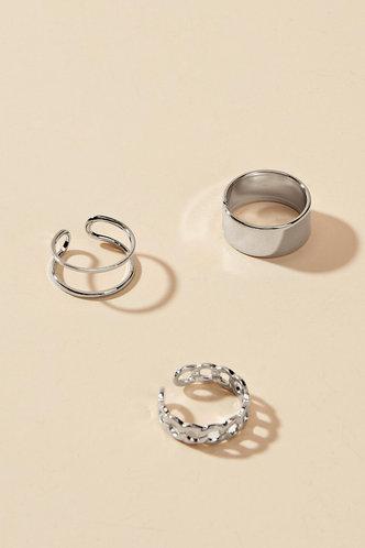 back_Modesty Edwina Sliver Metal Ring 3pcs