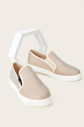 back_Elena Ethel Gold Glitter Canvas Shoes