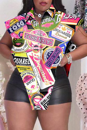 front_Esther Evangeline Graphic Print Plus Size Blouse