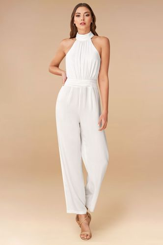 front_Posh White Jumpsuit