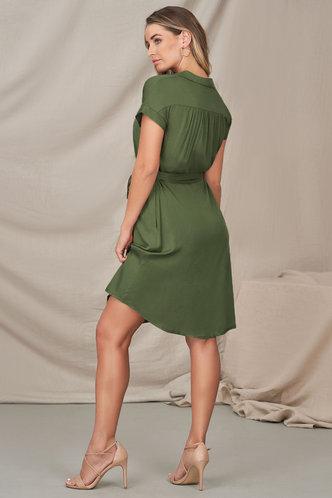 back_Wishful Thinking Army Green Midi Dress