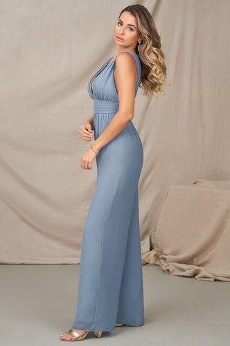 back_A Beauty So Rare Dusty Blue Jumpsuit