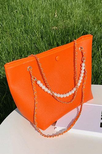 front_Erica Ostum Orange Shoulder Bag