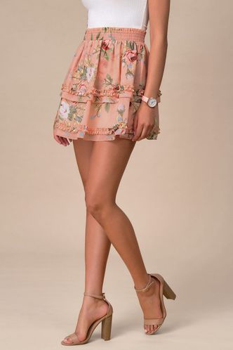 back_Paris Romance Blush Floral Print Skirt