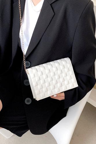 back_Cleopatra Elvira White Crossbody Bag