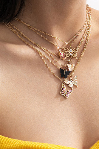 back_Casual Boho Gold Necklaces