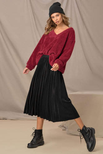 front_Work Day Black Skirt