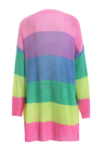 back_Swervin' On Em Multicolor Stripe Cardigan
