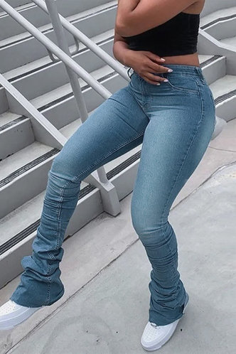 front_Rebekah Eleanore Wash Blue Skinny Jeans