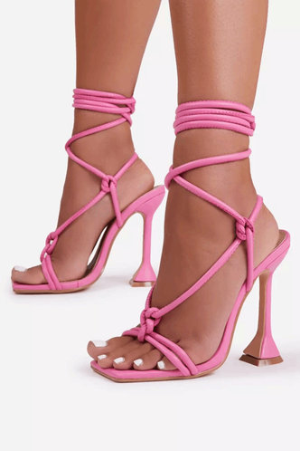 back_Ivory Erica Pink Lace Up Heeled Sandals