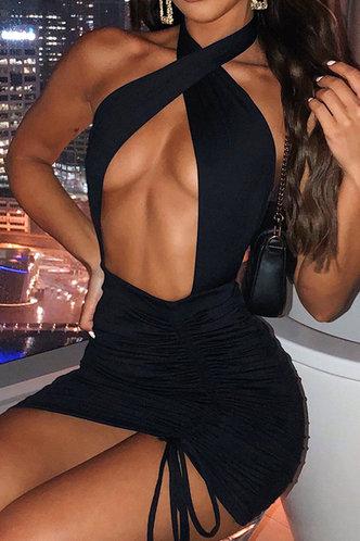 front_Sheila Eartha Black Cutout Halter Dress