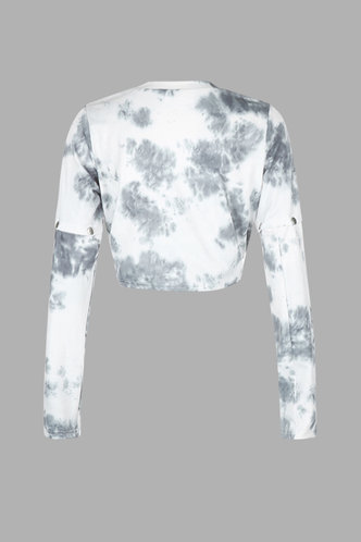 back_Ellen Eileen Grey And White Pullover