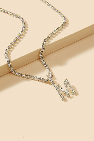 back_Frederica Kudril Silver Letter Pendant Necklace 1pc