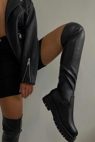 front_Dale Eudora Black Riding Boots