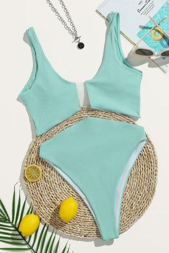 back_Ailie Elsa Sage Green One-Piece Swimsuit
