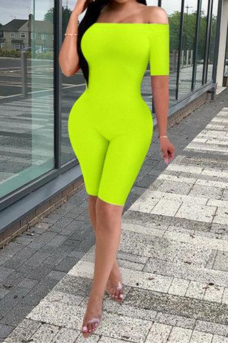 front_Rosie Elizabeth Lime Green Jumpsuit