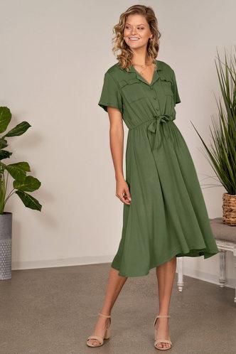 back_All My Heart Army Green Midi Dress