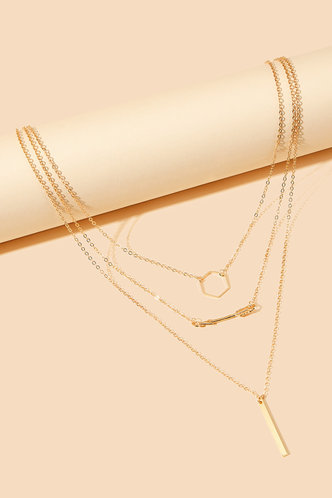 back_Holley Elsa Gold Geo Charm Layered Necklace