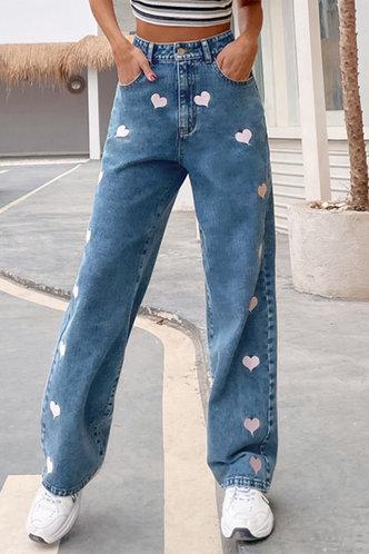 front_Denise Ostum Blue Heart Print Jeans