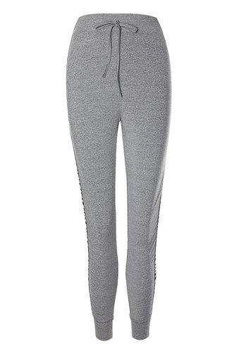 front_For Comfort Grey Marled Leggings