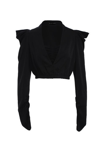 front_The Last Waltz Black Blouse
