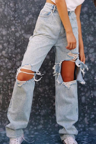 front_Marilyn Eartha Blue Ripped Knee Jeans