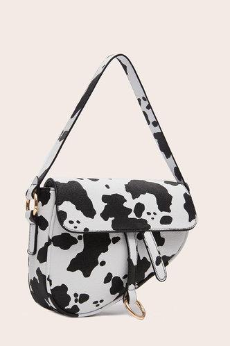 back_Theresia Elva Cow Print Shoulder Bag