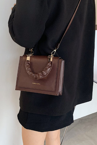 front_Casual Coffee Brown Satchels
